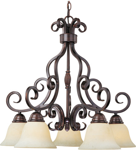 Maxim Lighting Manor 5 Light Down Light Chandelier in Oil Rubbed Bronze 12206FIOI photo