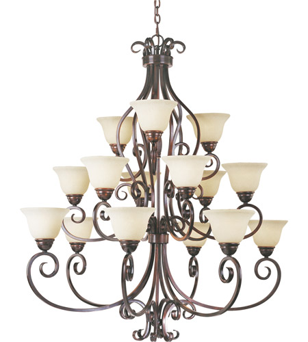 Maxim Lighting Manor 15 Light Multi-Tier Chandelier in Oil Rubbed Bronze 12209FIOI photo