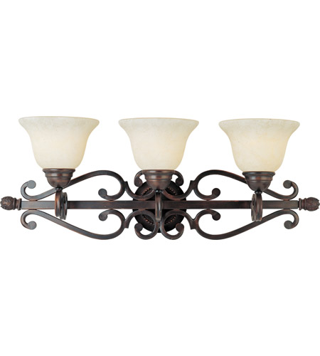 Maxim 12213FIOI Manor 3 Light 29 inch Oil Rubbed Bronze Bath Light Wall Light photo