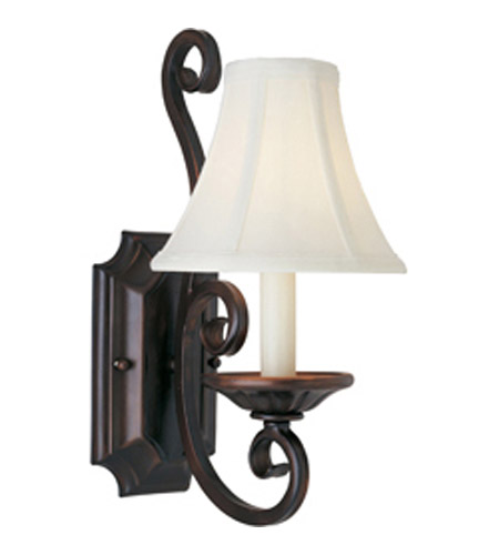 Maxim 12217OI/SHD123 Manor 1 Light 7 inch Oil Rubbed Bronze Wall Sconce Wall Light in With Shade (123) photo