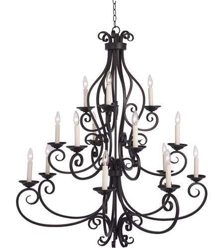 Maxim 12219OI Manor 15 Light 45 inch Oil Rubbed Bronze Multi-Tier Chandelier Ceiling Light in Without Shade photo