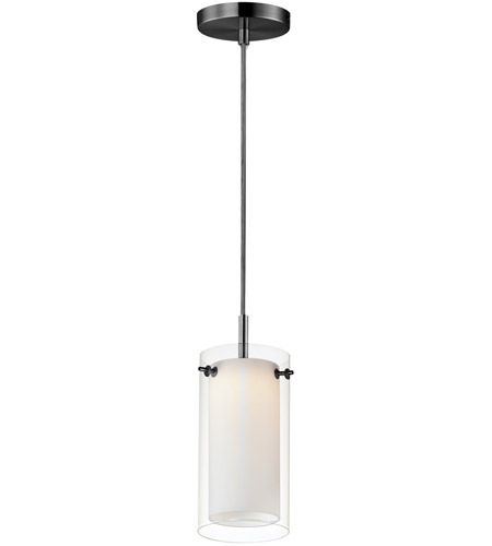 Maxim 12289CLSWBK Duo LED 5 inch Black Mini Pendant Ceiling Light photo