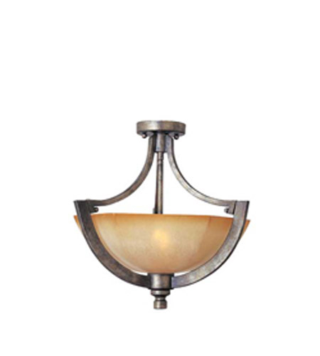 Maxim Lighting Moda 2 Light Semi-Flush Mount in Florentine 12301KLFN photo