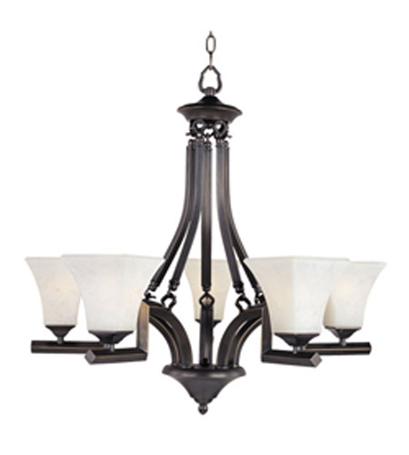 Maxim Lighting Mission Bay 5 Light Single Tier Chandelier in Heirloom Brass 12425FLHB photo