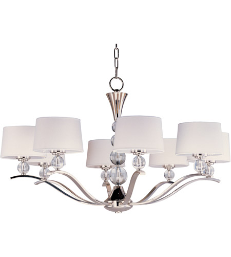 Maxim Lighting Rondo 8 Light Multi-Tier Chandelier in Polished Nickel 12758WTPN photo