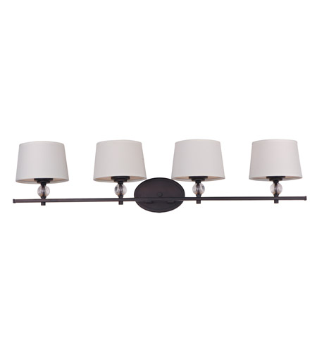Oil Rubbed Bronze Bathroom Lighting maxim 12764wtoi rondo 4 light 36 inch oil rubbed bronze bath light