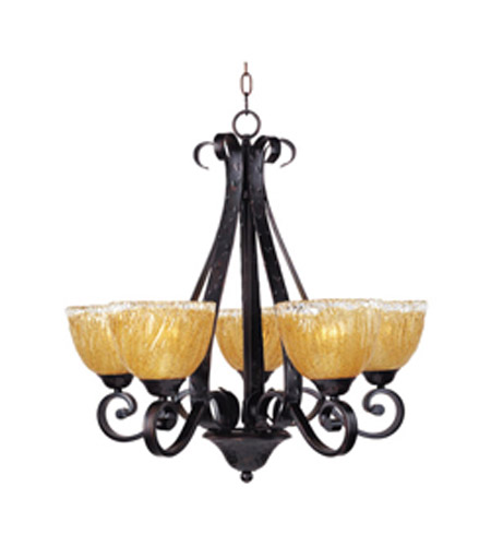 Maxim Lighting Barcelona 5 Light Single Tier Chandelier in Oil Rubbed Bronze 13415AIOI photo