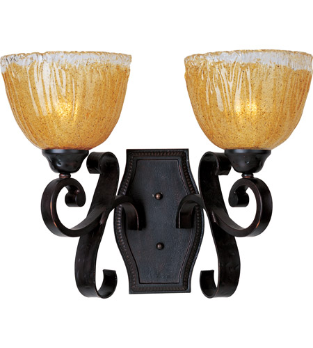 Maxim Lighting Barcelona 2 Light Wall Sconce in Oil Rubbed Bronze 13422AIOI photo
