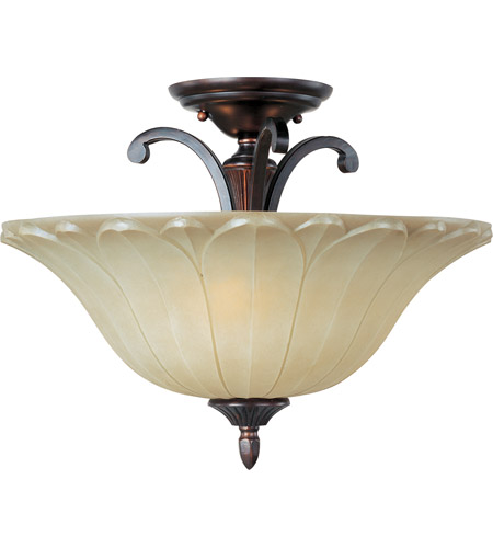 Maxim 13501WSOI Allentown 3 Light 18 inch Oil Rubbed Bronze Semi Flush Mount Ceiling Light photo