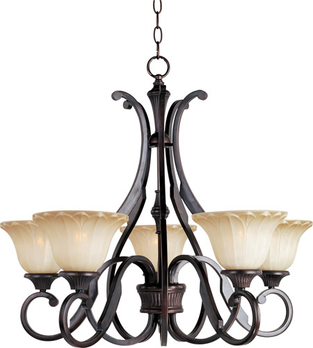 Maxim 13505WSOI Allentown 5 Light 27 inch Oil Rubbed Bronze Single Tier Chandelier Ceiling Light photo
