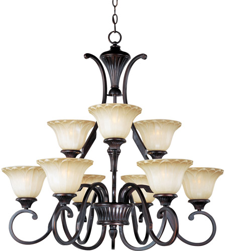 Maxim 13506WSOI Allentown 9 Light 32 inch Oil Rubbed Bronze Multi-Tier Chandelier Ceiling Light photo