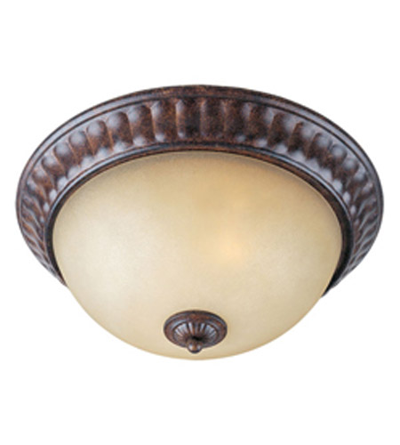 Maxim Lighting Augusta 2 Light Flush Mount in Auburn Florentine 13561CFAF photo
