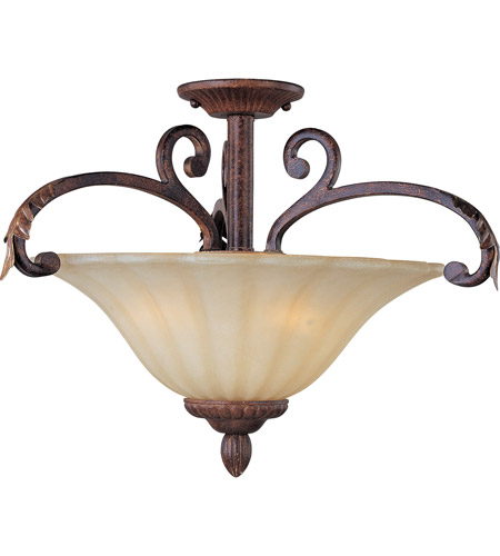 Maxim Lighting Augusta 3 Light Semi Flush Mount in Auburn Florentine 13562CFAF photo