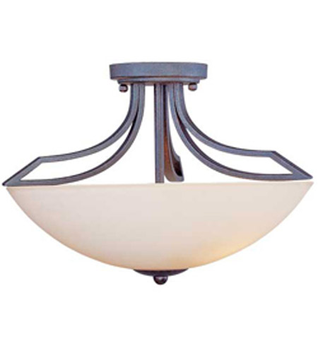 Maxim Lighting Ashford 3 Light Semi-Flush Mount in Burnish Texture 13601SWBT photo