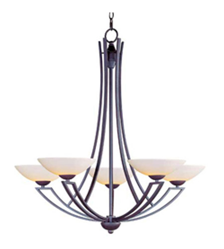 Maxim Lighting Ashford 5 Light Single Tier Chandelier in Burnish Texture 13605SWBT photo