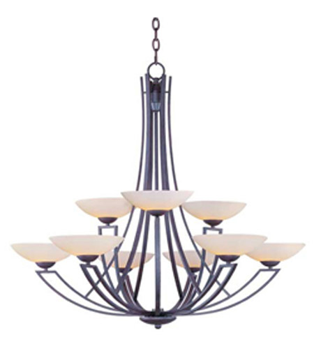Maxim Lighting Ashford 9 Light Multi-Tier Chandelier in Burnish Texture 13606SWBT photo