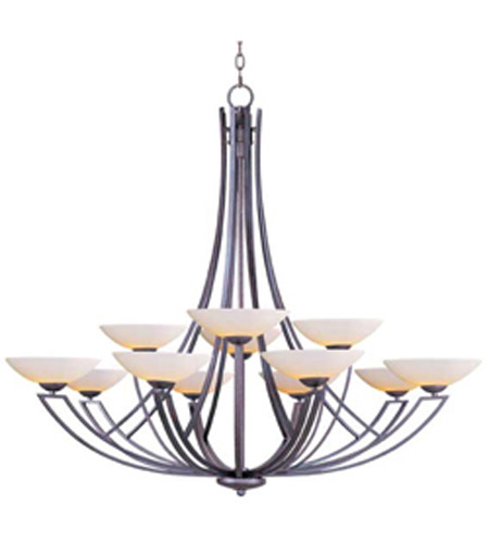 Maxim Lighting Ashford 12 Light Multi-Tier Chandelier in Burnish Texture 13607SWBT photo