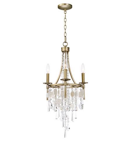 Cebu 3 Light 15 Inch Capiz And Gold Silver Chandelier Ceiling