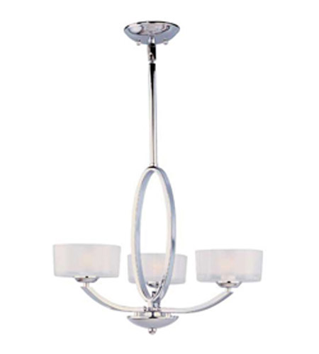 Maxim Lighting Elle 3 Light Single Tier Chandelier in Polished Chrome 19043FTPC photo