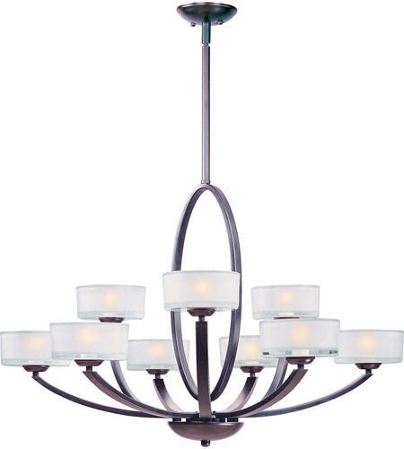 Maxim 19046FTOI Elle 9 Light 37 inch Oil Rubbed Bronze Multi-Tier Chandelier Ceiling Light photo