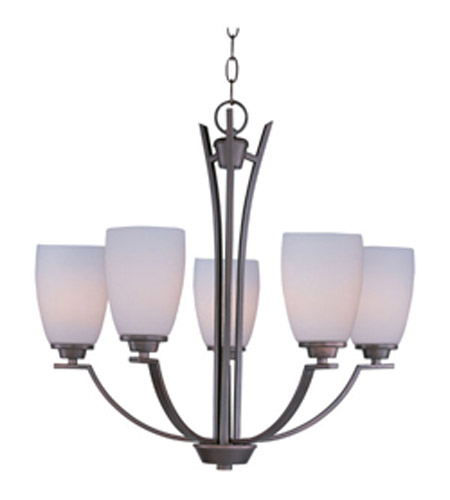 Maxim Lighting Rocco 5 Light Single Tier Chandelier in Oil Rubbed Bronze 20025SWOI photo