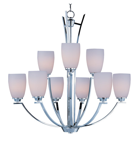 Maxim Lighting Rocco 9 Light Multi-Tier Chandelier in Polished Chrome 20026SWPC photo