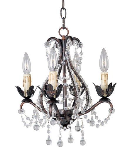 Maxim 20052OI Katherine 4 Light 14 inch Oil Rubbed Bronze Mini Chandelier Ceiling Light photo
