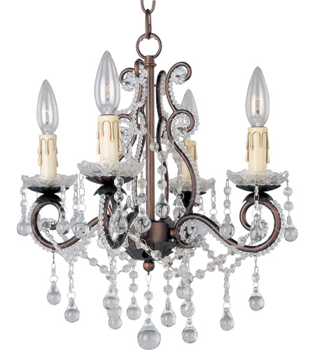 Maxim 20054OI Katherine 4 Light 15 inch Oil Rubbed Bronze Mini Chandelier Ceiling Light photo