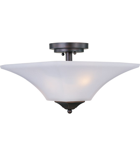 Maxim Lighting Aurora 2 Light Semi Flush Mount in Oil Rubbed Bronze 20091FTOI photo