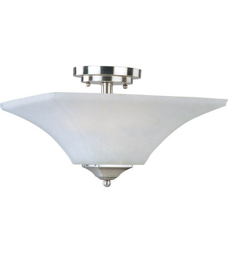 Maxim Lighting Aurora 2 Light Semi Flush Mount in Satin Nickel 20091FTSN photo