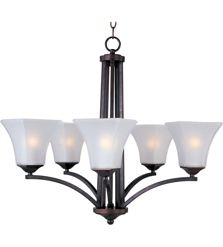 Maxim 20095FTOI Aurora 5 Light 26 inch Oil Rubbed Bronze Single Tier Chandelier Ceiling Light photo