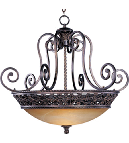 Maxim Lighting Portofino 4 Light Pendant in Oil Rubbed Bronze 20283VAOI photo