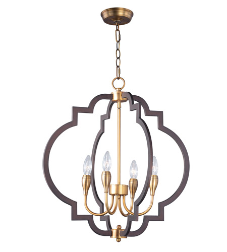 Maxim 20293oiab Crest 4 Light 22 Inch Oil Rubbed Bronze And Antique Br Chandelier Ceiling