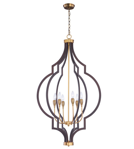 Maxim 20296OIAB Crest 6 Light 26 inch Oil Rubbed Bronze and