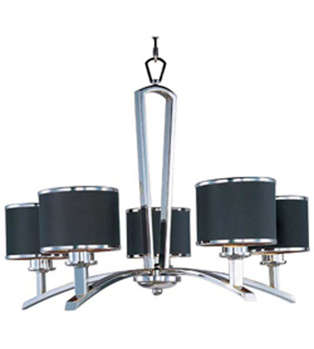 Maxim Lighting Salon 5 Light Single Tier Chandelier in Polished Chrome 20375BKPC photo