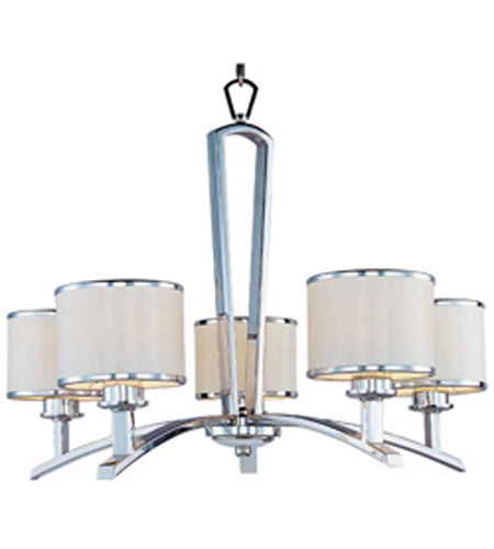 Maxim Lighting Salon 5 Light Single Tier Chandelier in Polished Chrome 20375WTPC photo