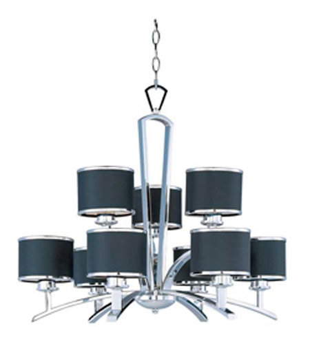 Maxim Lighting Salon 9 Light Multi-Tier Chandelier in Polished Chrome 20376BKPC photo