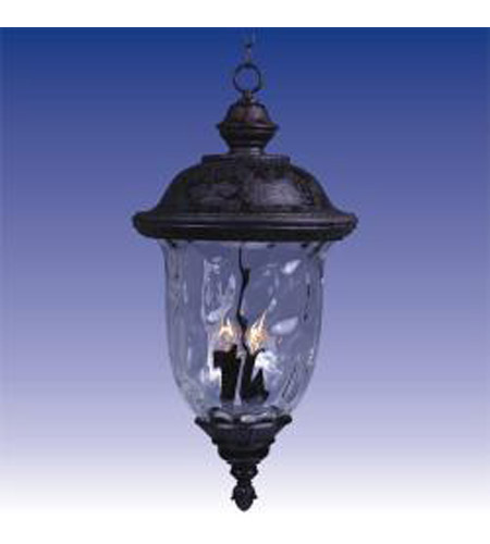 Maxim Lighting Carriage House 3 Light Outdoor Hanging Lantern in Oriental Bronze 20428WGOB photo