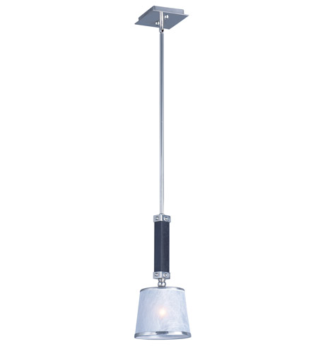 Maxim 20529WFWEPN Maritime 1 Light 8 inch Wenge and Polished Nickel Mini Pendant Ceiling Light photo