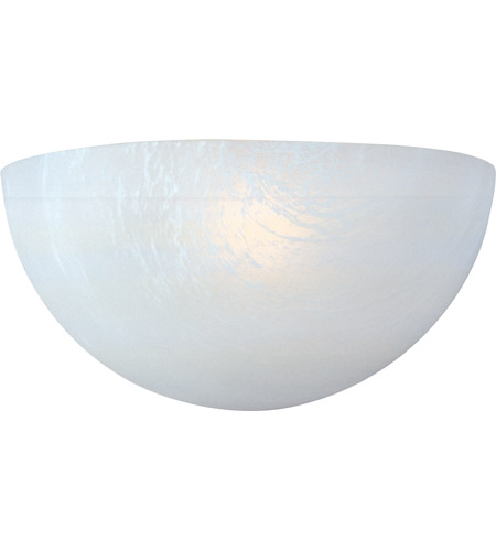 Maxim 20585MRWT Signature 1 Light 11 inch White Wall Sconce Wall Light in Marble photo