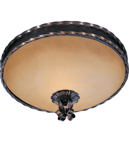 Maxim Lighting Aspen 2 Light Flush Mount in Oil Rubbed Bronze 20601VAOI