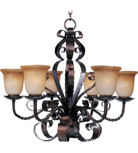 Maxim 20607VAOI Aspen 6 Light 30 inch Oil Rubbed Bronze Single Tier Chandelier Ceiling Light photo