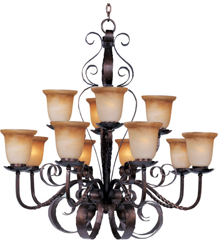 Maxim Lighting Aspen 12 Light Multi-Tier Chandelier in Oil Rubbed Bronze 20614VAOI