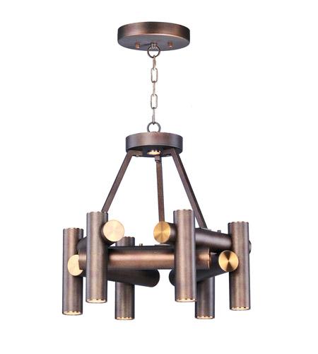 Maxim 20824BZFAB Tubular LED 20 Inch Bronze Fusion/Antique Brass Chandelier  Ceiling Light