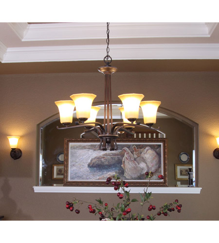 Maxim Lighting Chelsea 6 Light Single-Tier Chandelier in Weathered Russet 20885WSWR photo