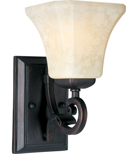 Maxim 21063FLRB Oak Harbor 1 Light 6 inch Rustic Burnished Wall Sconce Wall Light photo