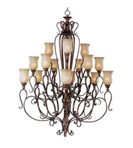 Maxim Lighting Sausalito 15 Light Multi-Tier Chandelier in Filbert 21127MCFL photo