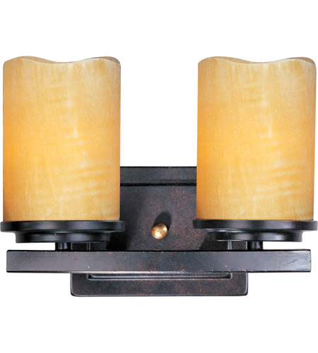 Maxim 21142SCRE Luminous 2 Light 11 inch Rustic Ebony Bath Light Wall Light photo