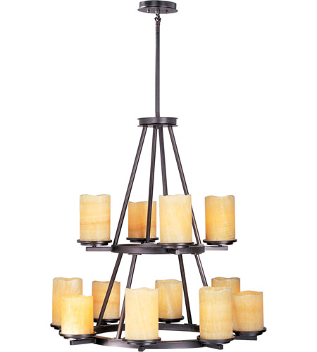 Maxim 21147SCRE Luminous 12 Light 32 inch Rustic Ebony Multi-Tier Chandelier Ceiling Light photo