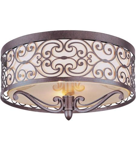 maxim 21151whub mondrian 2 light 14 inch umber bronze flush mount ceiling light